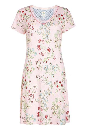 Short sleeve nightdress Jaipur Flower pink