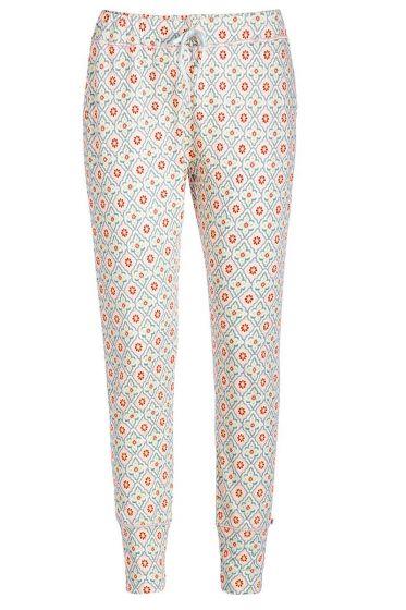 Lange broek Star Check roze