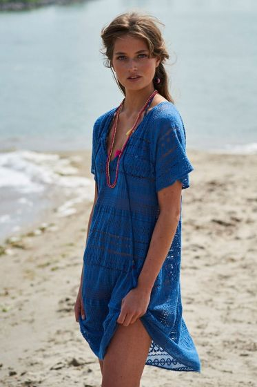 Tunic Crochet blue
