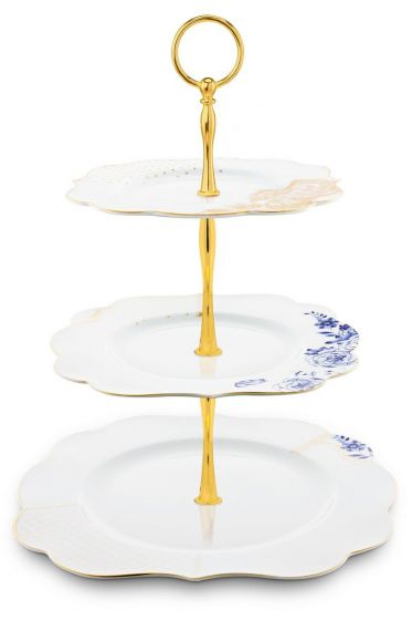 Royal White 3 Layer Cake Stand