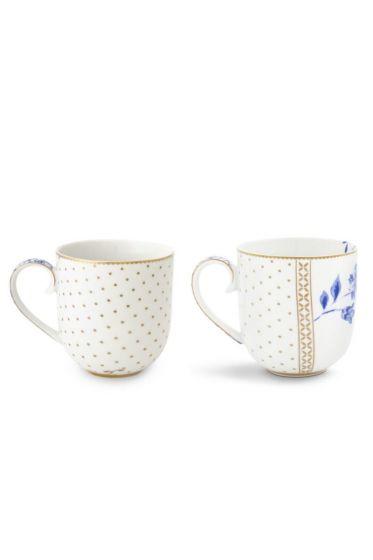 Royal White Set/2 Mugs Small
