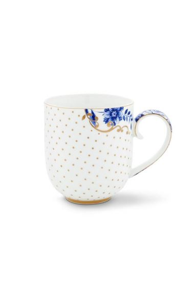 Royal White Dots Mug Large