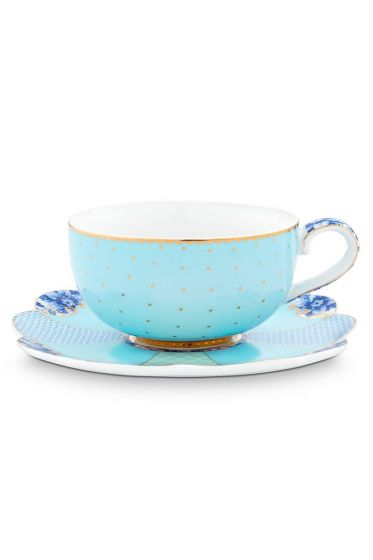 Royal Espresso Cup & Saucer Blue