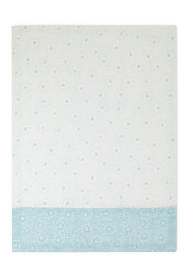 Floral Tea Towel Dotted Flower Blue