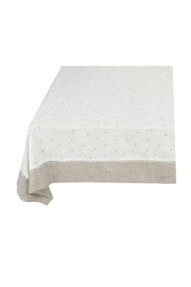 Floral Table Cloth Dotted Flower Khaki