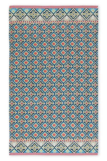 Beach Towel Star Check blue