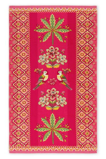 Beach Towel Darjeeling Bird pink
