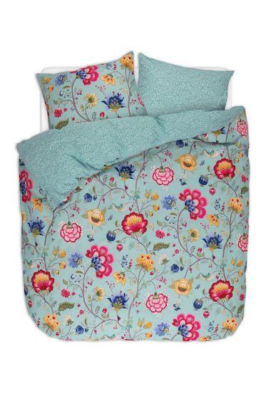 Bettbezug Floral Fantasy Meerblau