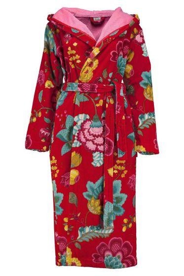 Badjas Floral Fantasy rood
