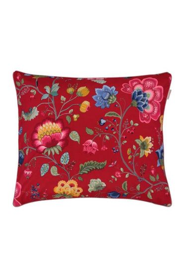 Kussensloop Floral Fantasy rood