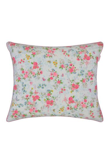 Pillowcase Chinese Rose Bouquet white