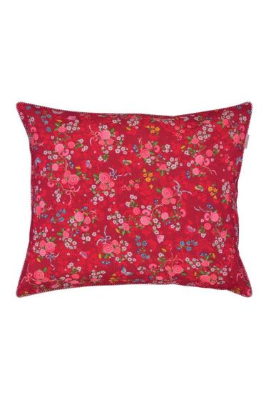 Pillowcase Chinese Rose Bouquet red