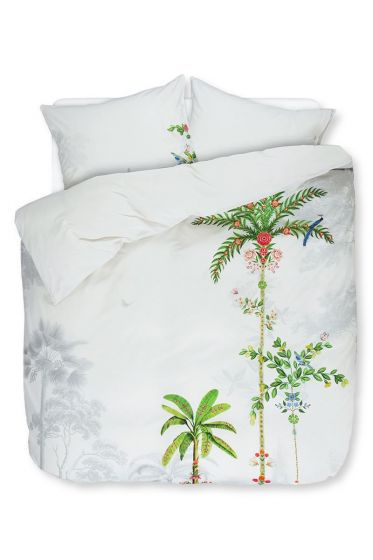 Duvet cover Indian Palms White