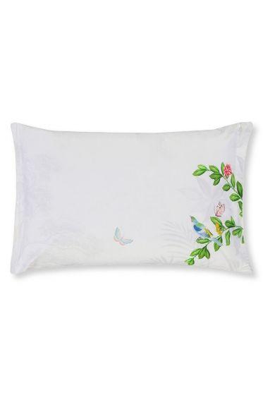 Cushion Indian Palms rectangle White