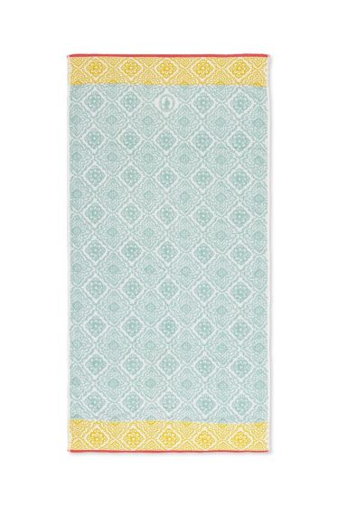 XL Bath towel Jacquard Check Light blue