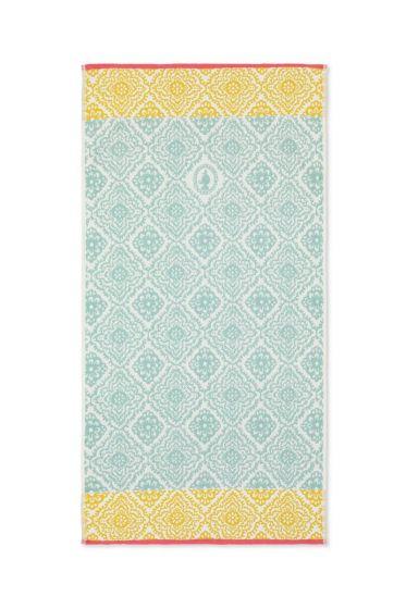 Bath towel Jacquard Check Light blue 55 x 100 cm