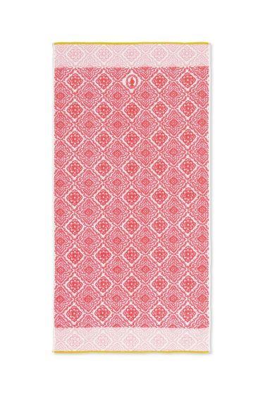 XL Bath towel Jacquard Check Dark pink 70 x 140 cm