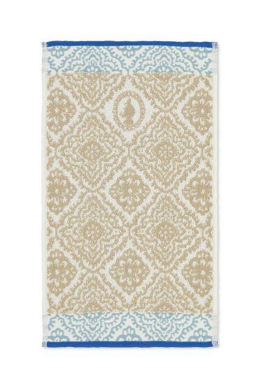 Gastendoek Jacquard Check khaki 30 x 50 cm