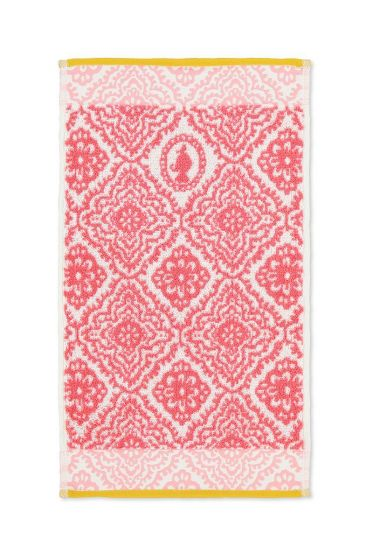 Guest towel Jacquard Check Dark pink 30x50 cm
