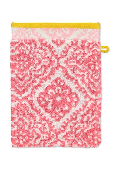 Wash cloth Jacquard Check Dark pink 16 x 22 cm