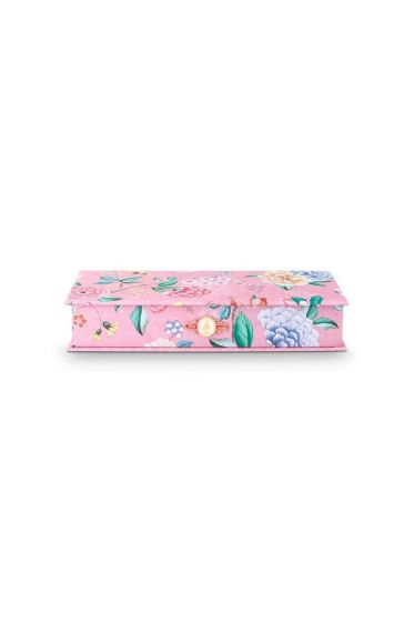 Storage Box Small Floral Good Morning Pink