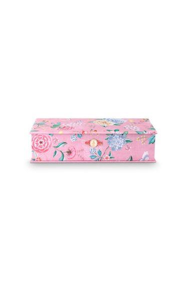 Storage Box Large Floral Good Morning Pink