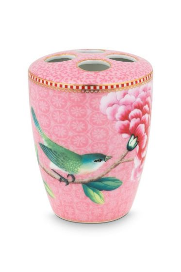 Toothbrush Holder Floral Good Morning Pink
