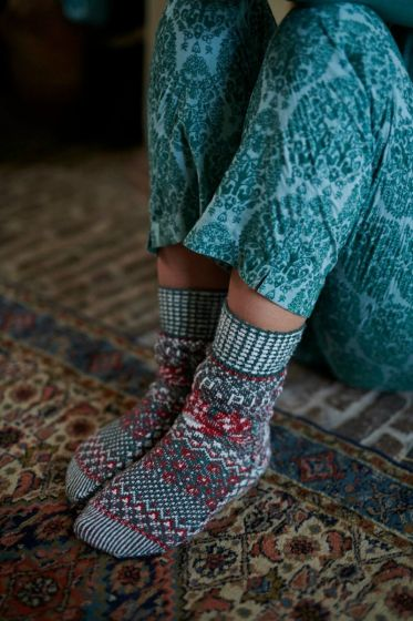 Socks Folky Flowers Green (39-42)