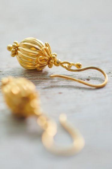 Earrings goldplated Ballerina gold