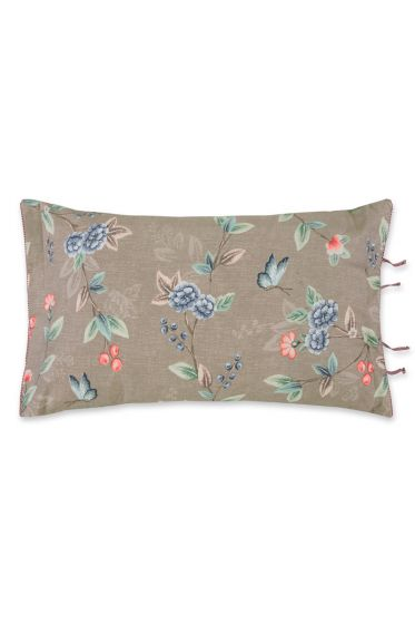 Cushion rectangle Birdy Brushed Twill Khaki