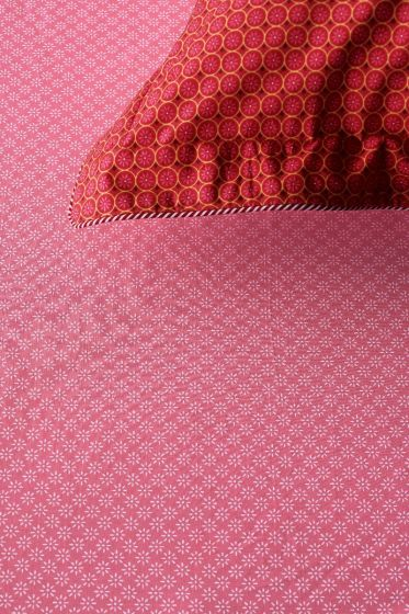 Fitted sheet Dotty Star Red
