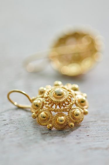 Earrings goldplated Grandma's Astrantia Gold