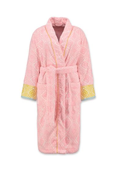 Bathrobe Jacquard Check Pink