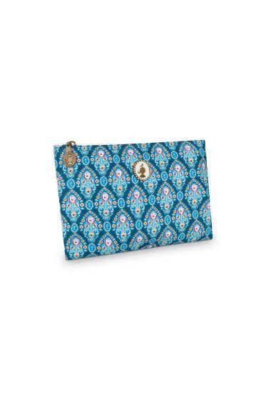 Pencil case flat Indian Festival blue