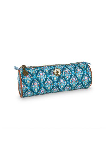 Etui rund Indian Festival blau