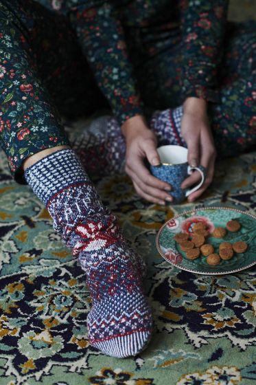 Socks Folky Flowers Blue (35-38)