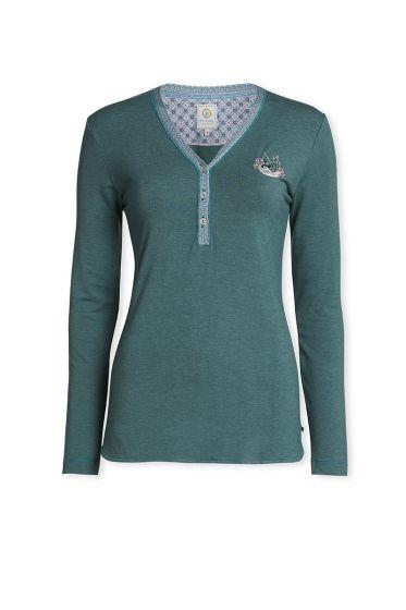 Top Long sleeve Melange/Melee Dark green