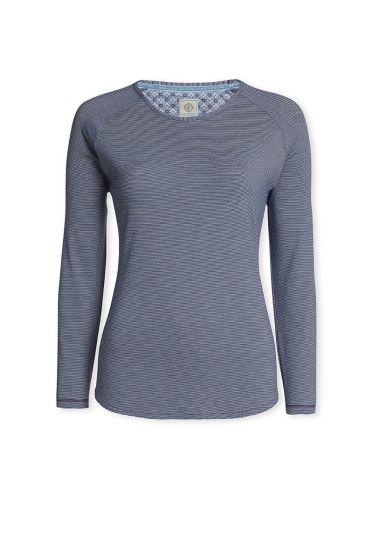 Top Long sleeve Stripers Dark blue