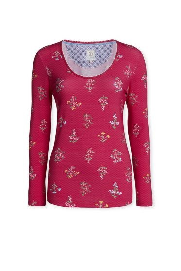 Top Long sleeve Winter Wonderland Cerise