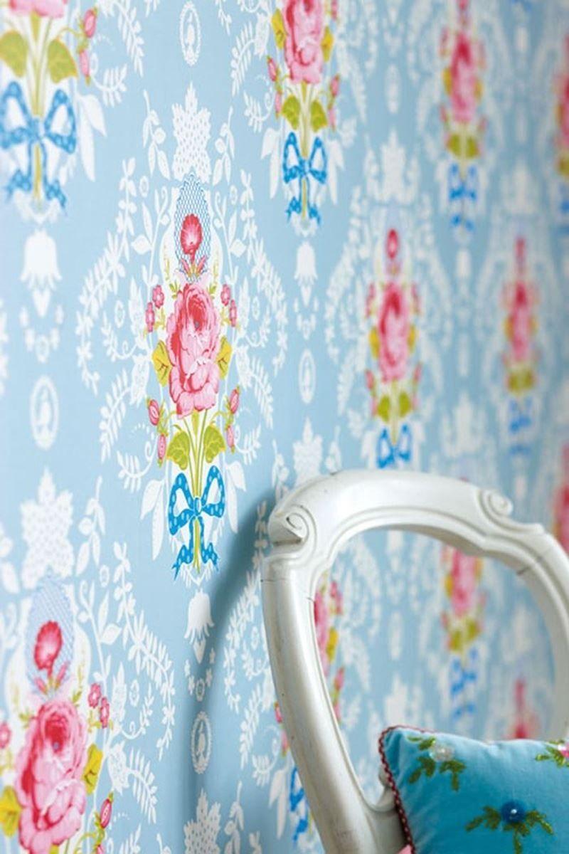 Shabby Chic wallpaper blue | Pip Studio the Official website
