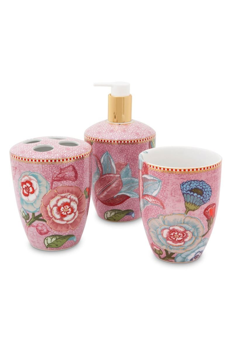 Badezimmeraccessoires-Set Spring to Life Rosa