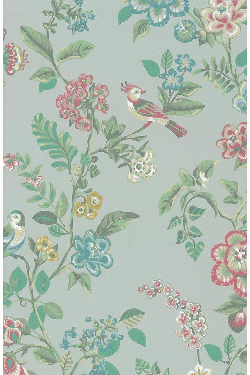 Botanical Print Wallpaper Light Green Pip Studio The Official