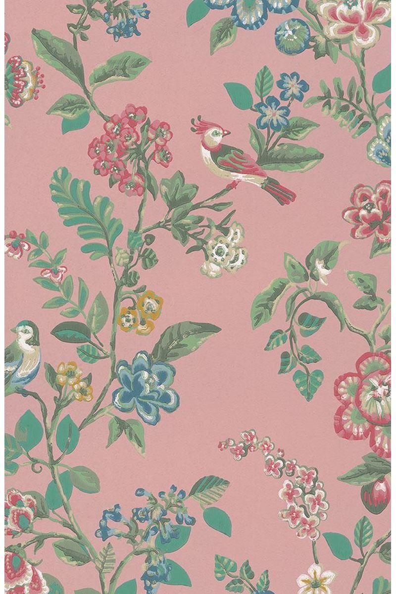 Botanical Print Wallpaper Soft Pink Pip Studio The Official Website