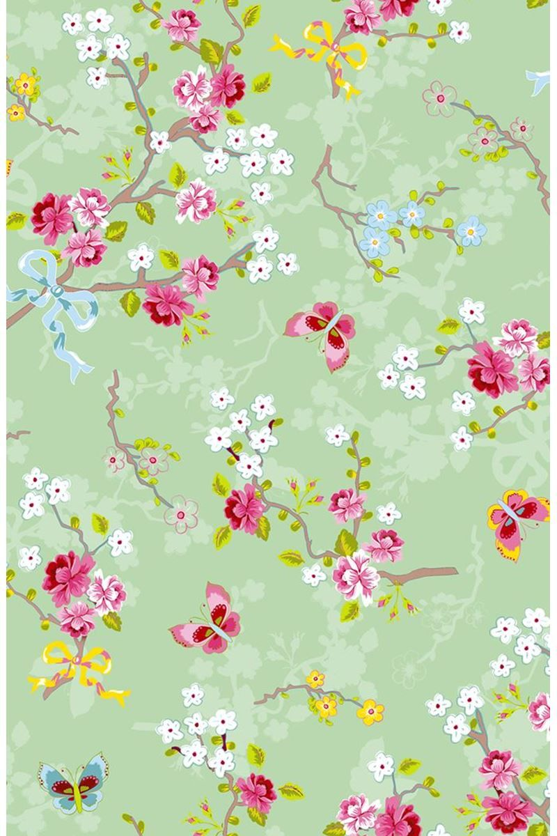 Chinese Rose Wallpaper Soft Green Pip Studio The Official Website