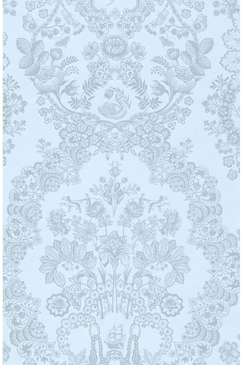 Lacy Dutch Wallpaper Light Blue