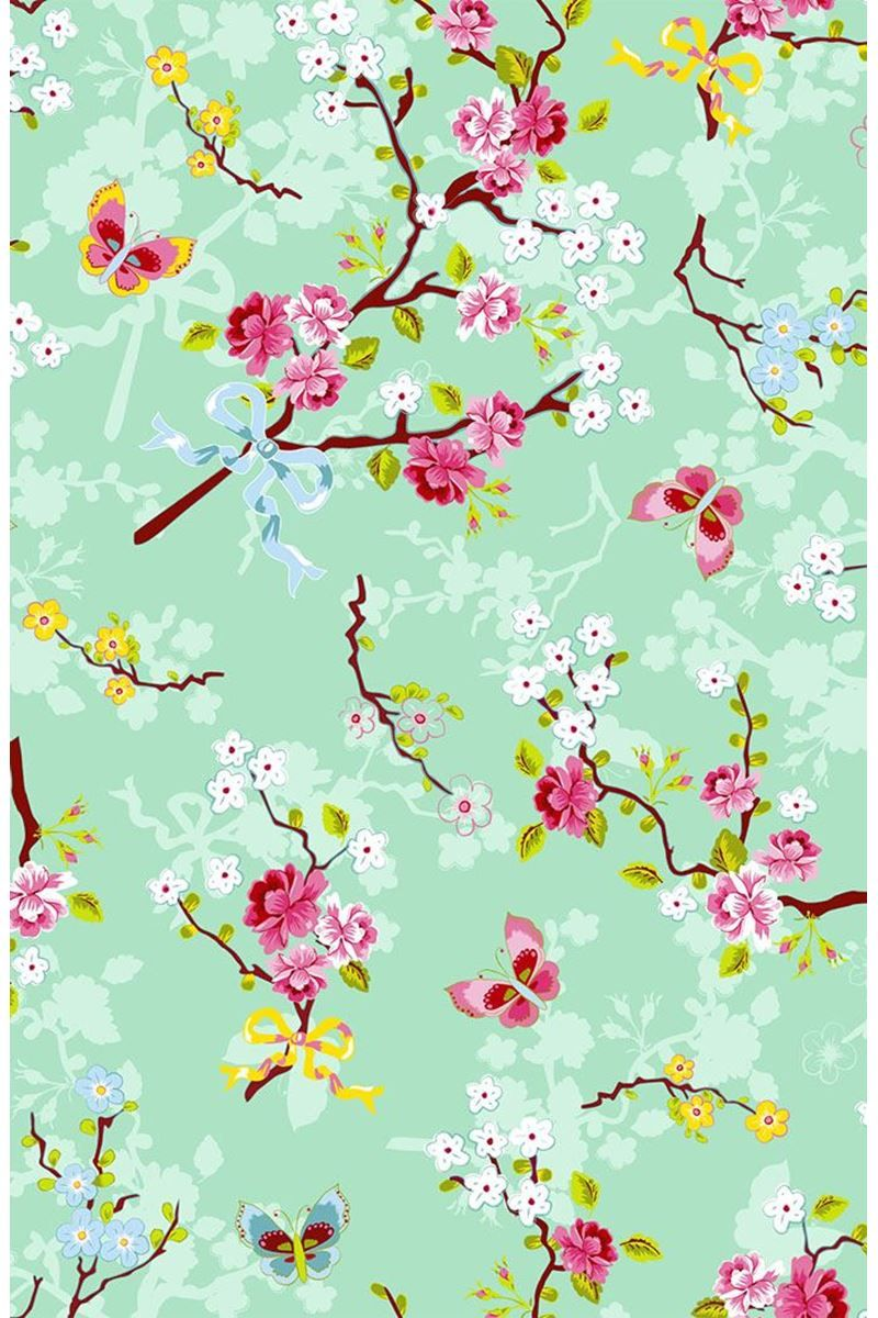 Chinese Rose Wallpaper Green Pip Studio The Official Website