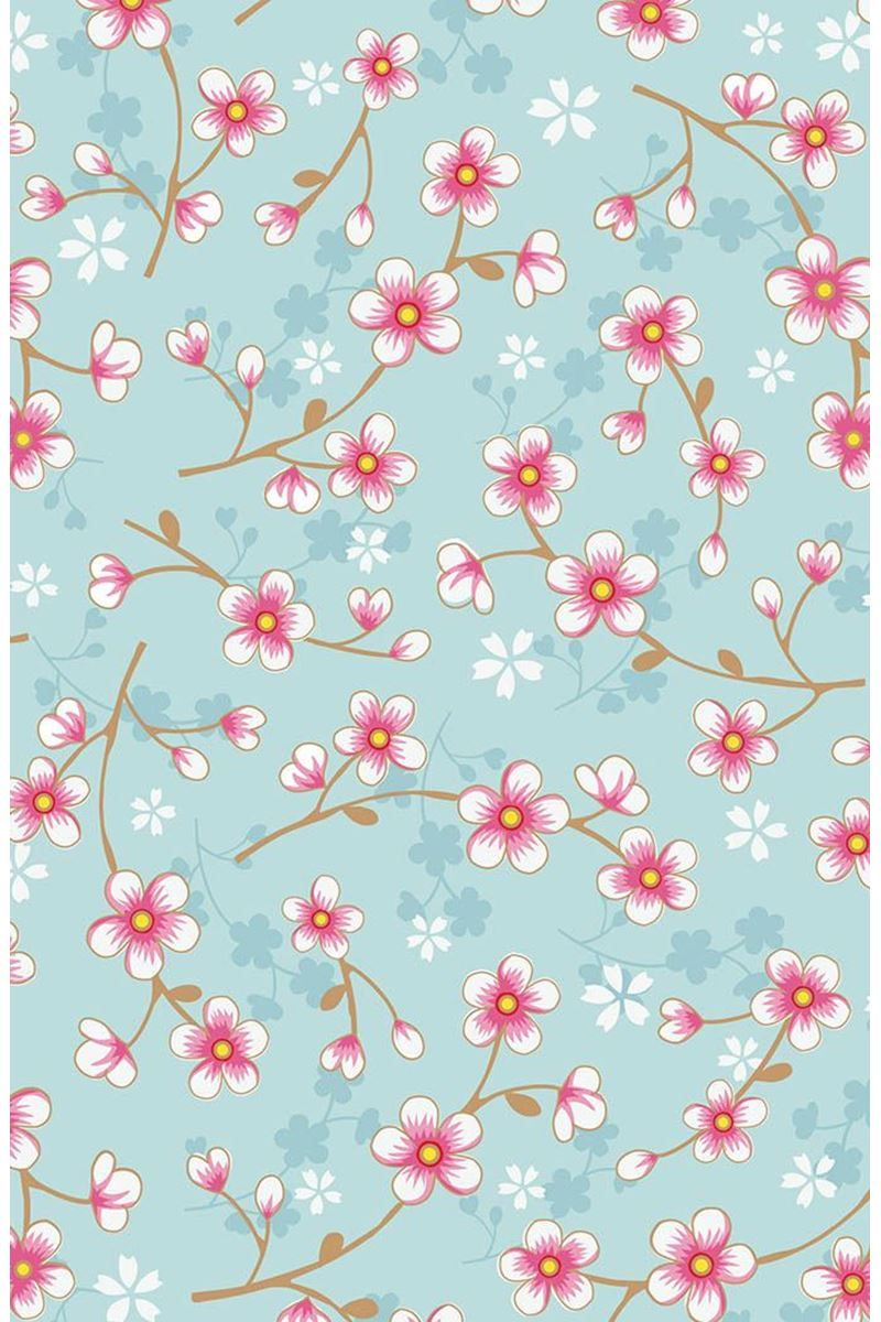 3364a925a Cherry Blossom wallpaper blue   Pip Studio the Official website