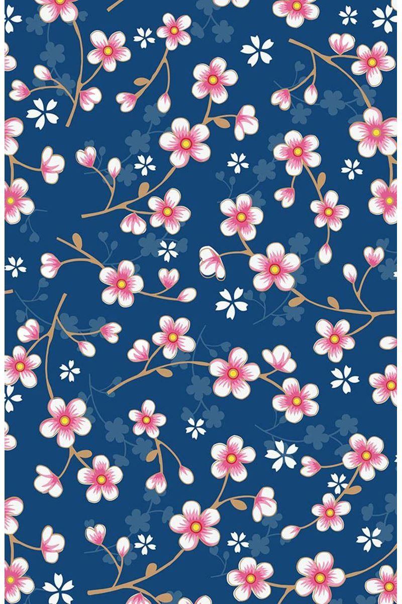 02d46cffc Cherry Blossom wallpaper dark blue   Pip Studio the Official website