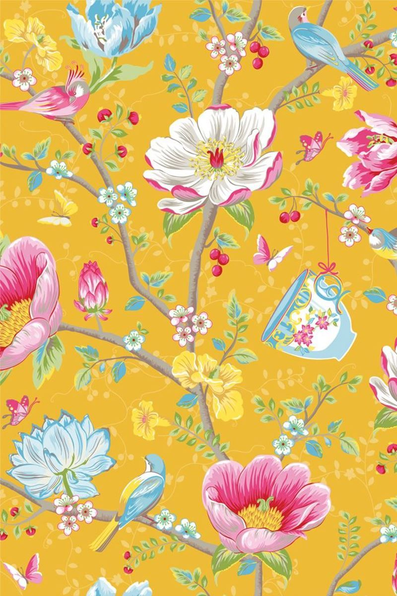 Chinese Garden Wallpaper Yellow Pip Studio The Official Website