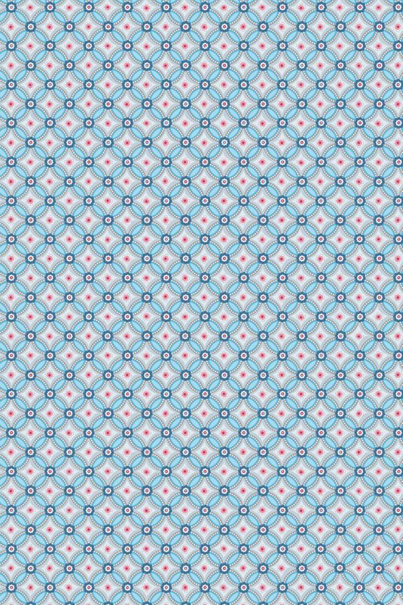 Geometric Wallpaper Light Blue